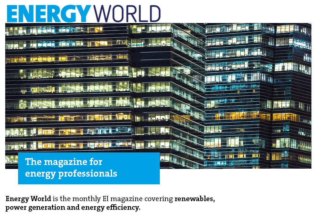 Energy World magazine cover