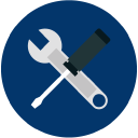 operation and maintenance icon